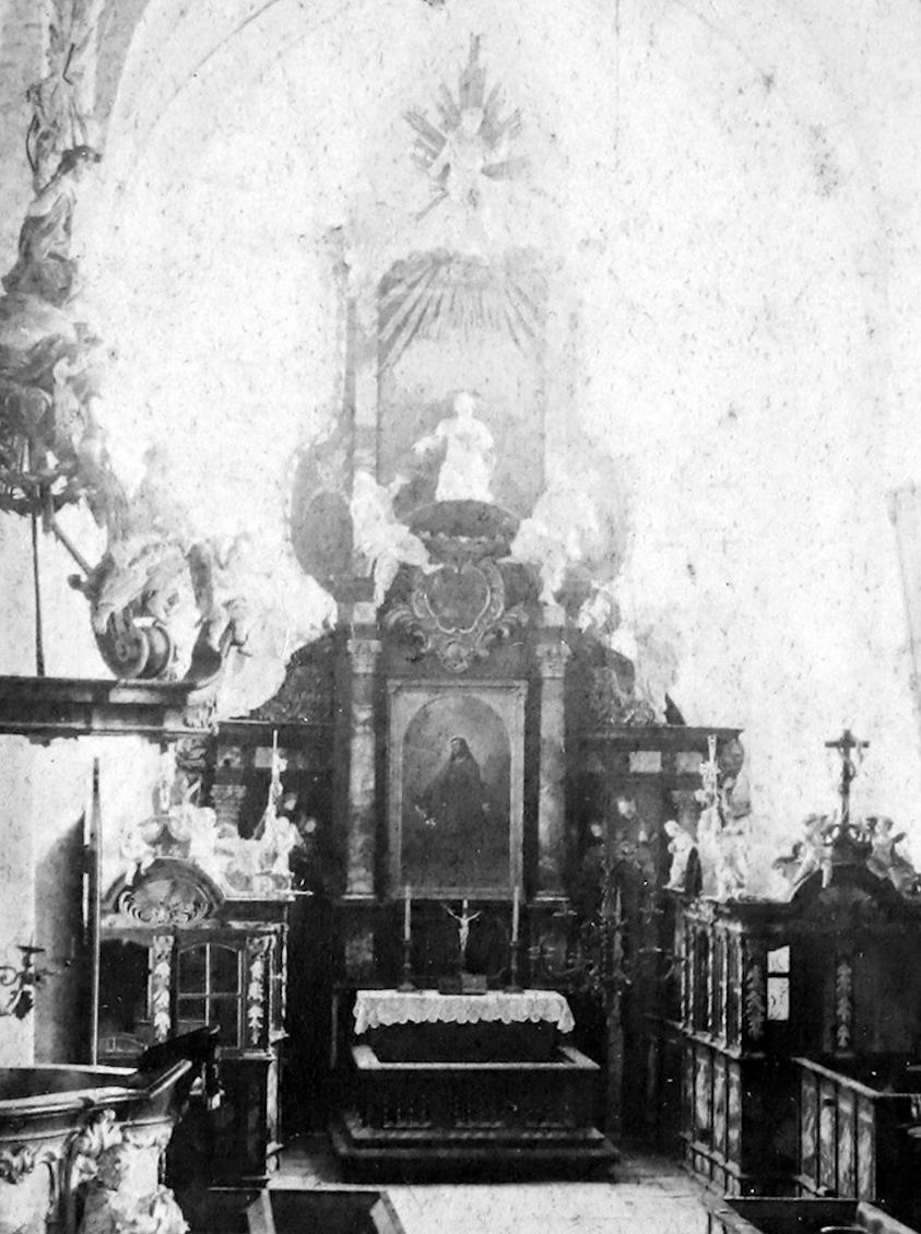 Historisches Foto – Gemälde als Altarbild