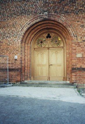 Sanierte Tür