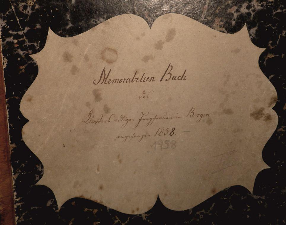 Umschlag des Memorabilienbuch