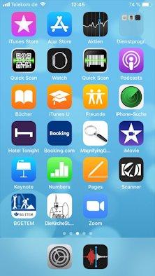 Kirchengemeindeseite als Icon auf iPhone
