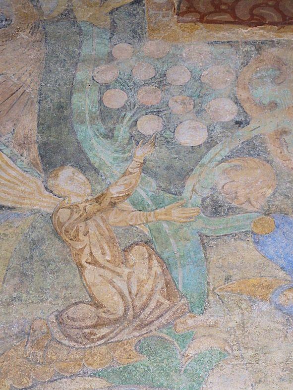 Detail Wandmalereien Paradiesfrüchte