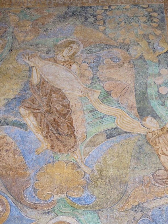 Detail Wandmalereien Paradiesstrom